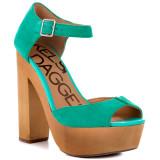 Kelsi Dagger Wynette Jade Suede Wooden Platform Sandals