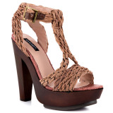 """Sarah""- t-strap raffia platform sandals from Shoemint"