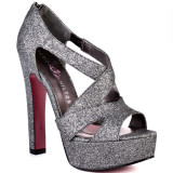 Casey - Party Silver Pump Sandal by Paris Hilton