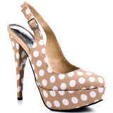 Nude pump shoes with dots – dare to show off