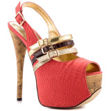 Carol Anne - Fancy Light Red Platform Pumps by Luichiny
