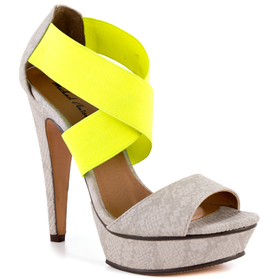 Tamms Rep – Stone Pu heels for cheap by Michael Antonio.